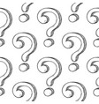 question marks in seamless pattern hand drawn vector image