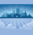 raleigh north carolina city skyline silhouette vector image vector image