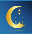 ramadan card vector image