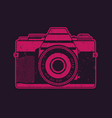 retro camera in pop-art style vector image vector image