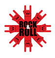 Rock and roll logo Star of rock hand sign Template vector image vector image