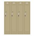 school or changing room lockers vector image