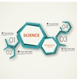 science infographic template vector image vector image