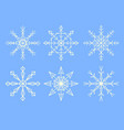 set abstract snoflakes vector image vector image