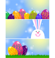 set easter banners vector image vector image
