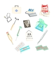 Set Of Different Medical Examination And Tratment vector image