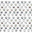 Set of female eyes and brows seamless vector image vector image