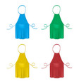 set of the blank colorful kitchen aprons vector image