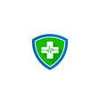 shield medical logo icon design vector image