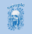 skull with vintage floral background vector image vector image