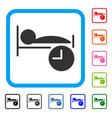 sleep time framed icon vector image vector image