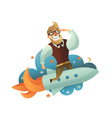 Startup Man Composition vector image vector image