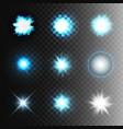 stock set ball lightning vector image