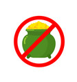 stop leprechaun gold treasure pot of golden coins vector image vector image
