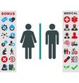 Toilets Icon vector image vector image