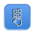 touch isometric icon for graphic and web design vector image vector image