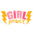 vintage logo a girl power retro emblem vector image