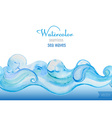 watercolor background Horizontal seamless patter vector image vector image