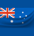 waving national flag of australia vector image vector image