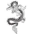 chinese dragon black white vector image