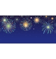 Festive banner with bright colorful firework vector image