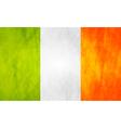 Irish grunge flag vector image