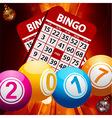 New Years bingo balls background vector image