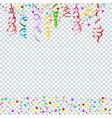 confetti serpentine transparent vector image