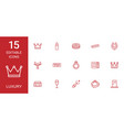 15 luxury icons vector image vector image