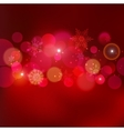 Abstract Christmas light background with bokeh vector image