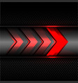 abstract red arrow power light technology vector image vector image