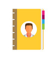 address phone book icon flat vector image