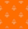 air energy pattern orange vector image vector image