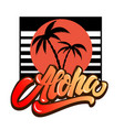 aloha palms with lettering design element