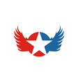 America Star USA logo icon Wings vector image