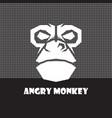 angry monkey logo vector image