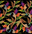 baroque embroidery seamless pattern tapestry vector image vector image