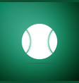baseball ball icon isolated on green background vector image vector image