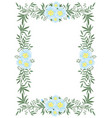 beautiful vertical frame flowers and plants vector image vector image