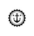 black vintage sailor badge white background logo vector image
