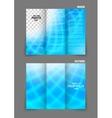 Bright tri fold brochure vector image vector image