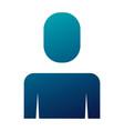 businessman portrait male icon blue vector image