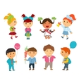 Cartoon kids back to school vector image vector image