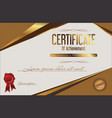 certificate of achievement retro template 4 vector image vector image