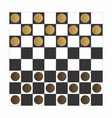 checker board game vector image