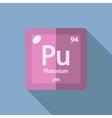 Chemical element Plutonium Flat vector image vector image