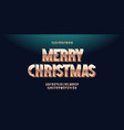 christmas alphabet 3d gold luxury style vector image vector image
