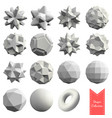 collection of 15 3d geometric shapes vector image vector image