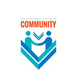 community partnership - business logo vector image