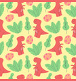 cute dinosaurs pattern design as seamless vector image